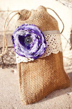 CUSTOM ORDER  ASHLEY Burlap  Flower Bag by SoTweetDesigns on Etsy, $5.00