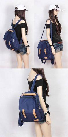New Capacity Canvas Multifunction Backpack & Handbag & Shoulder Bag for big sale! #New #handbag #canvas #backpack #Bag #school #college #rucksack #travel #cute #girl #retro