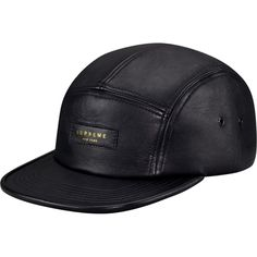 Supreme: Leather Camp Cap - Black ($68.00) - Svpply