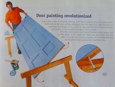 Great way to easily paint a door by yourself