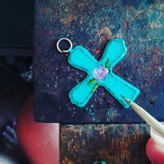 #cross #painting #jewellery #necklace