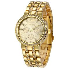 Hot Sale Luxury Geneva Brand Crystal watch women ladies men fashion dress quartz wrist watch relogio feminino with date Modern Watches, Casual Watches, Sporty Watch, Cheap Watches, Women's Watches, Ladies Watches, Wrist Watches, Fashion Watches, Rose Gold Watches