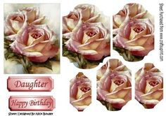Pretty pink roses for you Bracket pyramids on Craftsuprint - Add To Basket!