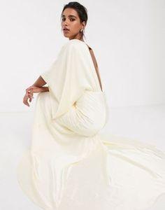 ASOS EDITION kimono plunge back maxi wedding dress