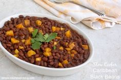 Slow cooker caribbean black beans - easy, low fat, high fiber, vegetarian, versatile, flavorful, 165 calories, 4 Weight Watchers Points Plus, Simply Filling