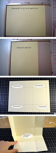 Silvey's Craftroom: Mini bag tutorial, paper, with a tray that holds items when it is folded up. Deco Table Communion, Ideas Paso A Paso, Fun Crafts, Paper Crafts, Paper Purse, Diy Sac, Envelope Punch Board, Paper Folding, A4 Paper
