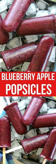 Blueberry Apple Healthy Popsicles are fruity, clean, fresh and cold. Only 2 ingredients and these beautiful deep purple treats are bursting with natural blueberry flavors and perfect to cool you down on hot summer days! #healthyrecipes #popsicles #veganrecipes #fruitpopsicles Good Healthy Recipes, Best Dessert Recipes, Vegan Recipes Easy, Vegan Desserts, Blueberry Popsicles, Healthy Popsicles, Fruit Popsicles, Fast Dinner Recipes, Vegan Comfort Food