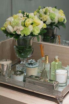 Detalhes para decorar o seu banheiro! ❥Inspirações. Bandeja para lavabo.