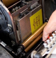 "Letterpress Printing: Setting up the Heidelberg ""windmill"" platen 
