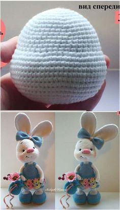 CONEJA OREJONA Traducida Sandrita Crochet Bunny Pattern, Crochet Dolls Free Patterns, Crochet Rabbit, Cute Crochet, Amigurumi Patterns, Crochet Home, Crochet Crafts, Hello Kitty Crochet, Crochet Disney