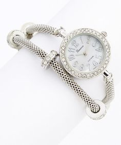 Silver Woven Chain Wrap Watch #zulily #zulilyfinds