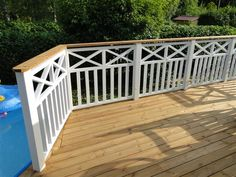 Porch Banister, Front Porch Railings, Patio Railing, Pergola, Porch Railing Designs, Balcony Railing Design, Deck Design, Backyard Projects, Outdoor Projects