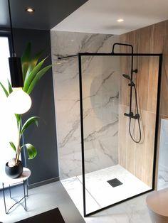 Svanesjø Nelly - Walk in dusj sort matt – Nygaard Bad Sorting, Master Bath, Interior And Exterior, Tiles, New Homes, Life Styles, Ariel, Bathrooms, House