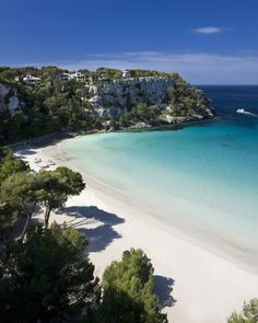 Beautiful blue sky and white sands. Cala Galdana Menorca, Photograph Getty Images