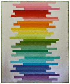Rainbow quilt, LOVE it!
