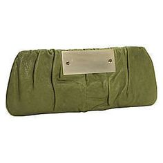 0ef18748aa16 Very lovely laura matthews olive green clutch Green Clutches