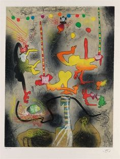 Untitled (from Carne-Amont portfolio) by Roberto Matta