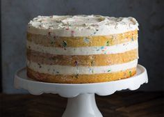 Confetti Cake, Or Party Party Cake - Bake from Scratch