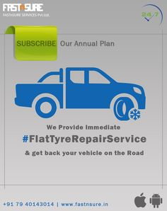 If The User's Vehicle Is Immobilized Due To Flat Tyre, 'FastnSure' Will Assist The User By Sending A Technician To Repair The With a Spare Stepney Tyre At The Location Of The Car Repair Service, Flat Tire, Vehicle, How To Plan, Automobile Repair Shop, Vehicles