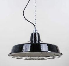 Fresh Details zu Fabriklampe FACTORY cm schwarz Gitter Emaille Lampe Industrial Lighting
