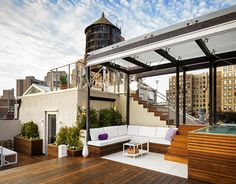 Rooftop terrace after the rain