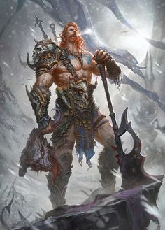Roided barbarians, anabolic druids, sexy satyrs, and more. Fantasy Warrior, Fantasy Male, Fantasy Rpg, Medieval Fantasy, Fantasy Character Design, Character Concept, Character Art, Concept Art, Vikings