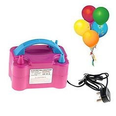 Portable Electric Party Balloon Pump Air Inflator Blower…