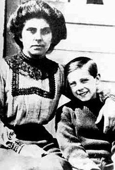 Master Frank John William Goldsmith, 9, was born December 19, 1902 the son of Frank Goldsmith and Emily Alice Brown. The family were from from Stroud Kent.    Frankie boarded the Titanic at Southampton with his parents.    Frankie and his mother were rescued, probably in Collapsible D, his father perished. Pictured with his Mother Emily.