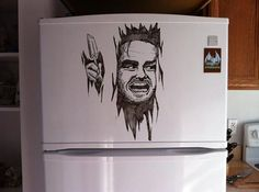 Drawings on Refrigerators: Charlie Layton – - Trend Kitchen Decorating White Board Drawings, Art Drawings, Teal Kitchen, Kitchen Decor, Arte Nerd, Sketch Inspiration, Kitchen Trends, Marker Art, People Art
