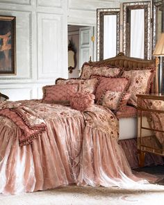 """Sweet Dreams """"Carissima"""" Bed Linens at Horchow."""