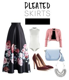 """""""pleated skirts!"""" by nkoolee on Polyvore featuring Topshop, Chicwish, FRACOMINA, Gianvito Rossi, Kate Spade and pleatedskirts"""