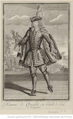 Homme de qualité en habit de bal à l'Espagnol : [estampe] - 1690