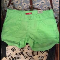 I'm Green With EnvyBONGO SHORTS Very cute and trendy lightweight cotton shorts in a vibrant Green colorPerfect for these Hotttt Summer days NWT ✨ BONGO Shorts