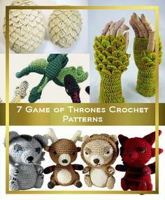 7 Game of Thrones inspired Crochet Patterns - at Kicky Crochet.