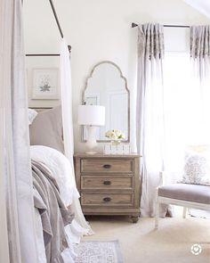 Home Decor Bedroom, Bedroom Furniture, Design Bedroom, Bedroom Curtains, Bedroom Ideas, Furniture Design, Bedroom Ceiling Wallpaper, Bedroom Mirrors, French Bedroom Decor