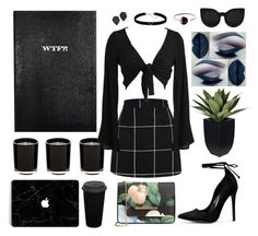 """black dove"" by afbdzjm ❤ liked on Polyvore featuring Sloane Stationery, Ted Baker, Astrid & Miyu, Kendra Scott, Delalle and Skagen"