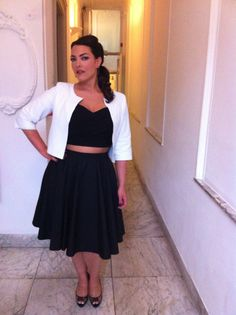 June 27, 2013, Unicef TV show Amsterdam Top: Stop Staring Skirt: custom made by Maki Ito Jacket: custom made by Jan Boelo Shoes: Jimmy Choo