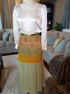 Indian Anthropology Fushion Long Skirt by AmarieCollections on Etsy