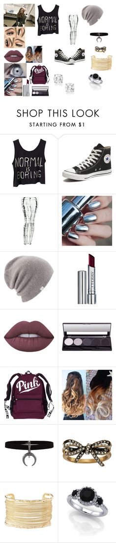 """""""Sky"""" by chels608 ❤ liked on Polyvore featuring Converse, Hudson Jeans, Coal, By Terry, Lime Crime, Marc Jacobs and Charlotte Russe"""