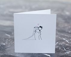 Stickman Wedding/Anniversary or just because I still love you Romantic Card.
