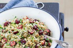 Bulgur Salad with Chickpeas and Cherries (Vegan) | vespresso