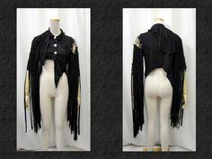 【楽天市場】ゴスパンク ゴシック V系 フリンジ死神風イレギュラーカットジャケット黒:PARROT
