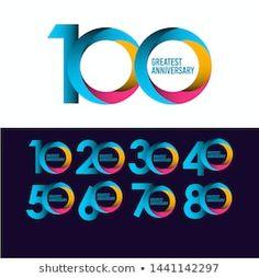 Vetor stock de 100 Year Anniversary Design Template (livre de direitos) 1517674175 Anniversary Logo, Graphic Design Posters, Tech Logos, Templates, Number, Visual Identity, Vectors, Pictures, Stencils