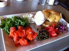 Tally's silver Spoon, Rapid City, South Dakota.  Breakfast Lox Plate.