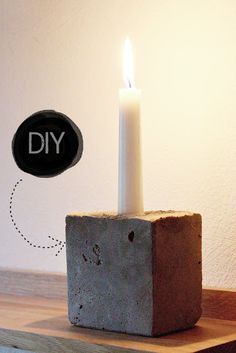 Super Ideas For Concrete Patio Diy Cement Candle Holders Support Bougie, Concrete Projects, Diy Concrete, Cement Patio, Concrete Furniture, Diy Luminaire, Concrete Candle Holders, Beton Diy, Diy Inspiration