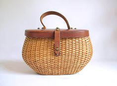 Vintage 1960s John Romain HUGE Wicker Purse