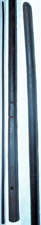 japanese kanamuchi or kanemuchi a forged tapered iron whip used by policesecurity forces
