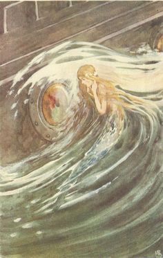Vintage The Little Mermaid Childrens Fairy by printsandpastimes Vintage Mermaid, Mermaid Art, Mermaids And Mermen, Fairytale Art, Pretty Art, Studio Ghibli, Mythical Creatures, Illustration Art, Illustrations