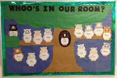 """""""Whoo's In Our Room?"""" Fall Bulletin Board Idea"""