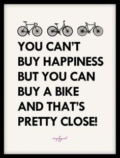 A great investment, IMHO! #bicycling #happiness